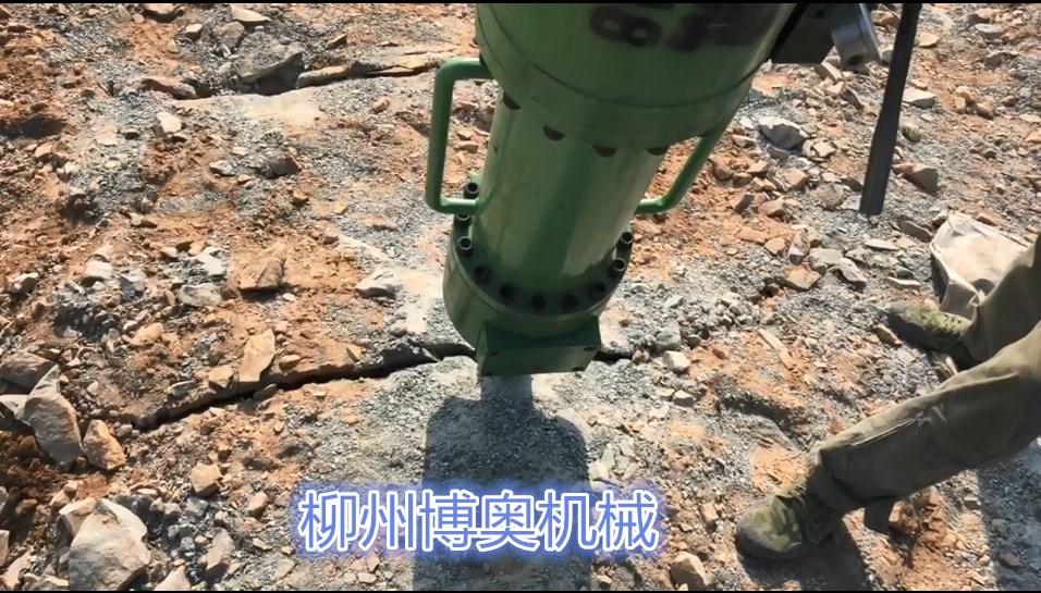 岩石劈裂机一天8小时有多少产量