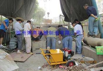 开挖顶管施工中劈裂机的使用说明