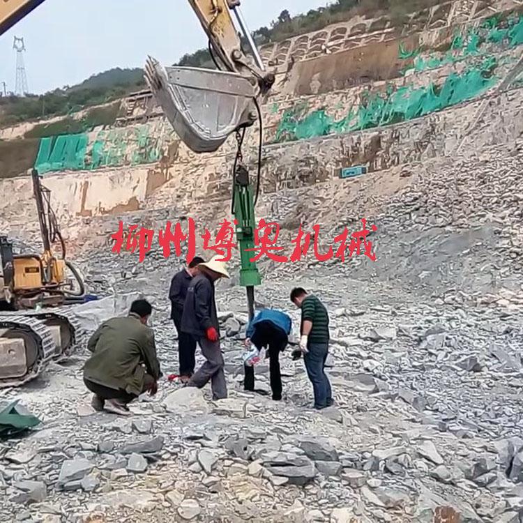 厂家供应石灰石花岗岩快速破裂机械劈石机