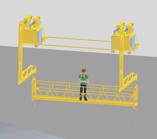 定制型的橋梁PVC排水管道安裝高空作業施工平臺設備