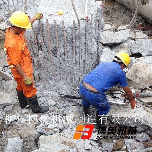 博奥劈裂机成为了静态快速破拆钢筋混凝土桩头的设备