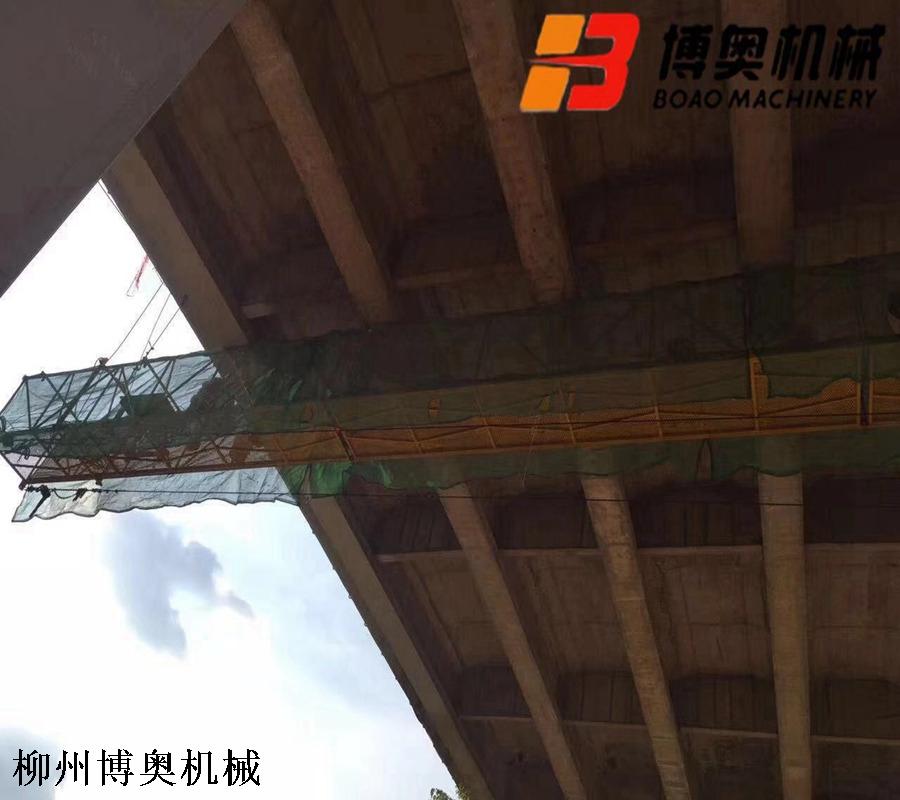 橋梁檢測車安全施工平臺
